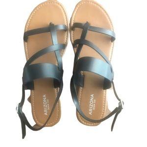 Arizona jean co black strappy sandals 11